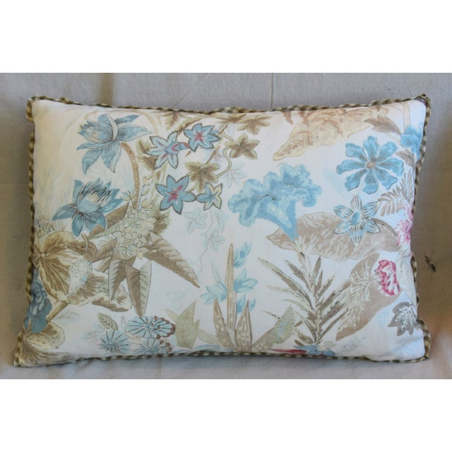 "Farmhouse Cowtan & Tout Floral Linen Feather/Down Pillows 26"" X 18"" - Pair For Sale - Image 3 of 13"