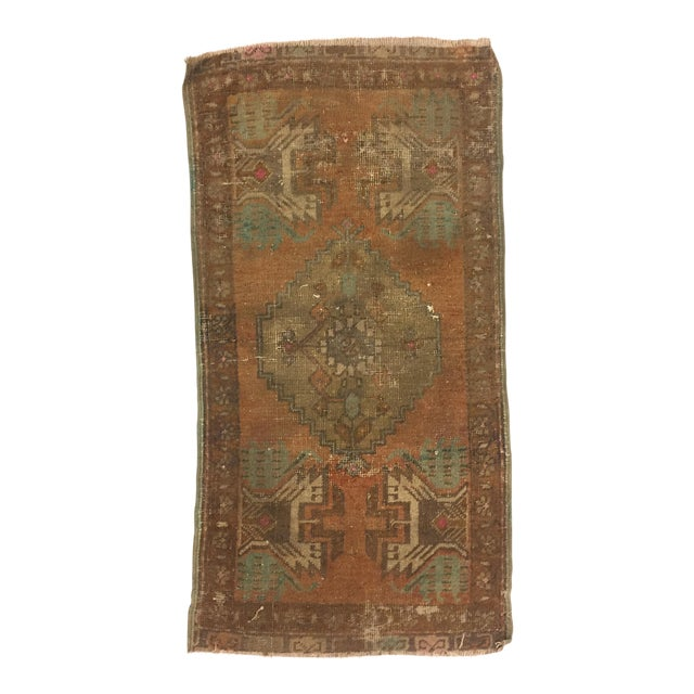Antique Turkish Handwoven Rug - 1′6″ × 3′ - Image 1 of 6