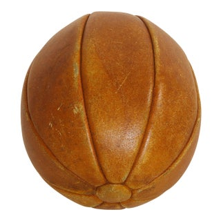 19th Century English Leather Ball For Sale