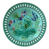 Image of 1900 Villeroy & Boch Majolica Reticulated Flowers Plate For Sale