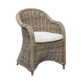 Set of Four Rattan Dining Chairs