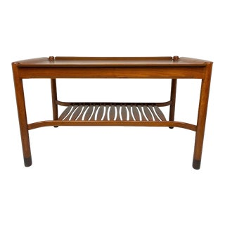 1950s Mahogany & Brass Low Table by David Rosén for Nk Nordiska Kompaniet For Sale