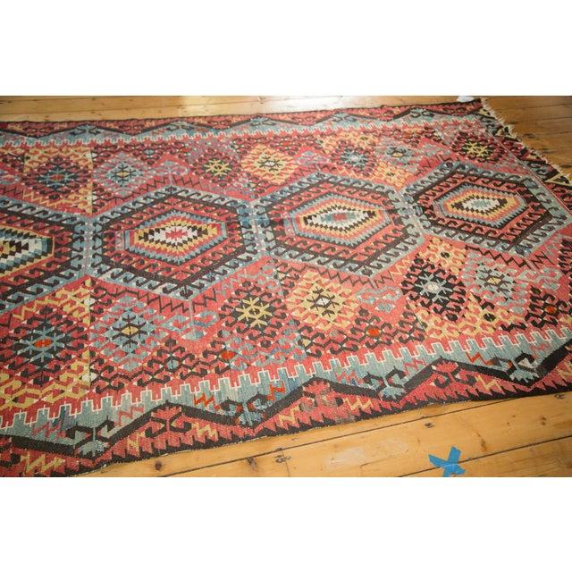"Boho Chic Antique Kilim Carpet - 6'1"" x 9'1"" For Sale - Image 3 of 10"