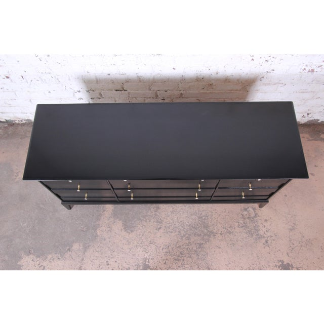 Paul McCobb Style Ebonized Triple Dresser or Credenza by Heywood Wakefield For Sale In South Bend - Image 6 of 13