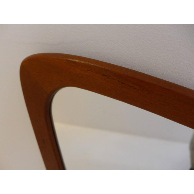 Mid-Century Modern Eccentric Shaped Danish Teak Mirror For Sale - Image 3 of 5