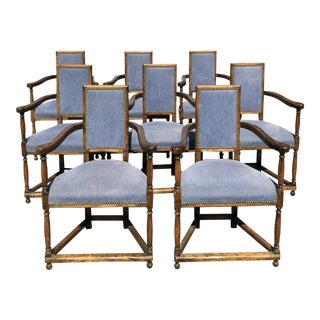 20th Century FrenchRenaissance Caquetoire/Conversation Dining Chairs - Set of 8