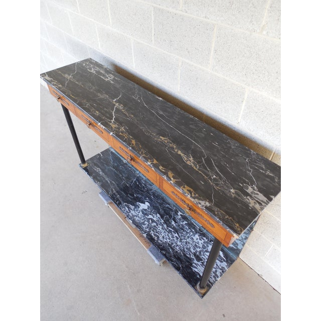 Bethlehem Furniture French Regency Marble Top Console - Image 4 of 10