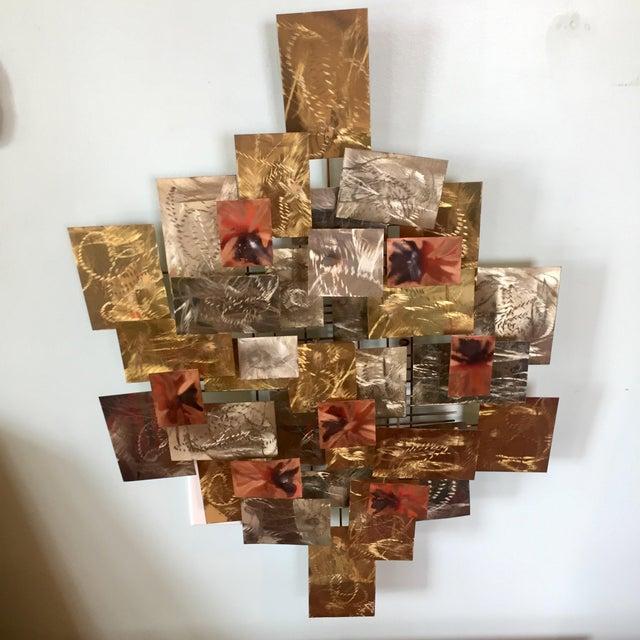 Metal Brutalist Metal Wall Sculpture by Higgins For Sale - Image 7 of 7