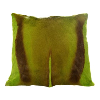 Modern Springbok Pillow in Lime 17x17 For Sale
