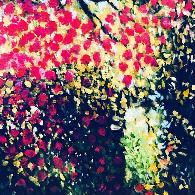 """""""Blossom"""" Acrylic Painting For Sale - Image 4 of 6"""