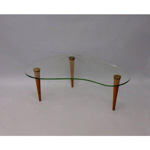 Gilbert Rohde Style Art Deco Floating Glass Cloud Coffee Table - Image 3 of 5
