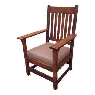 Stickley Furniture Co. Mission Oak Arm Chair