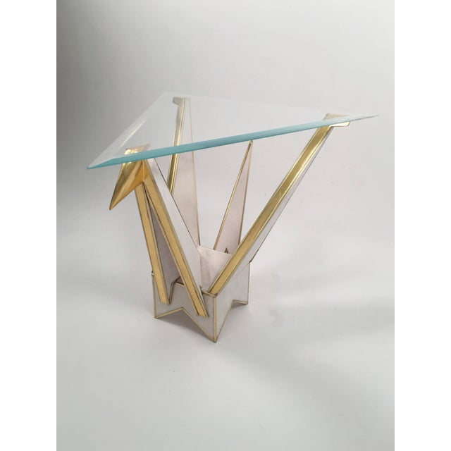 Modern Origami Swan Side Table by MarGian Studio For Sale - Image 3 of 3
