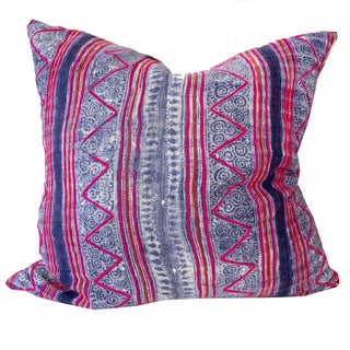 Vintage Hand Woven Hmong Tribal Pillow 20x20