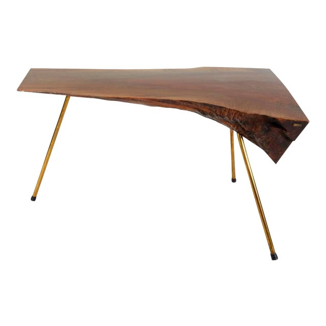 Walnut Table by Carl Auböck For Sale