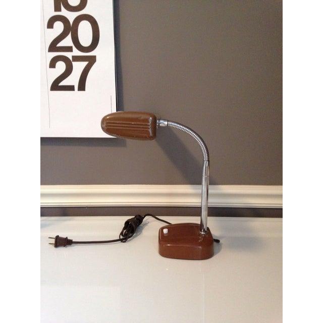 Mid-Century Industrial Gooseneck Desk Lamp For Sale - Image 4 of 6