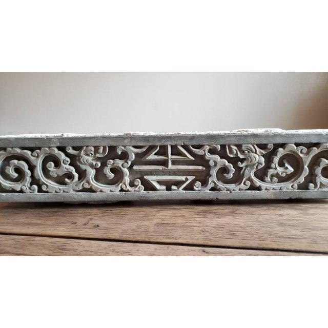 Antique Asian Temple Architectural Relief Carved Stone Frieze Panel For Sale - Image 4 of 13