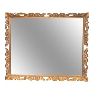 Vintage French Giltwood Baroque Wall Hanging Mirror 2x3 For Sale