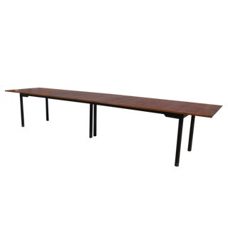 Edward Wormley for Dunbar Walnut Dining Table 13ft For Sale