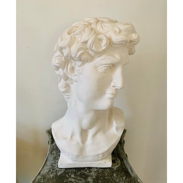 1990s Plaster Bust of David Sculpture For Sale - Image 12 of 12