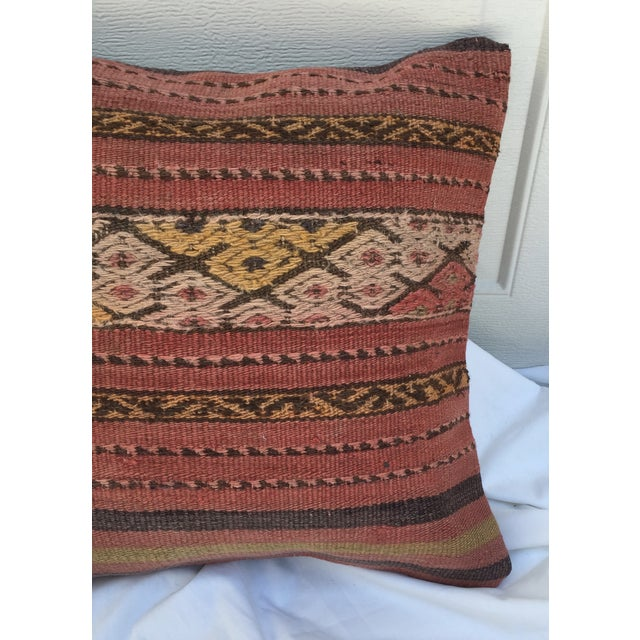 Southwestern Woven Kilim Striped Pillow For Sale - Image 4 of 7