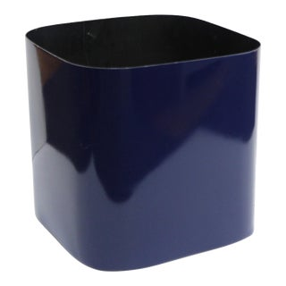 Paul Mayen For Habitat Modern Lacquered Metal Planter With Rounded Edges For Sale