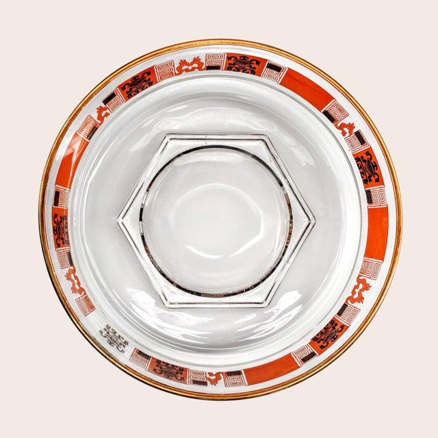 Orange & Gold Mid-Century Mayan Motif Candy Bowl - Image 2 of 5