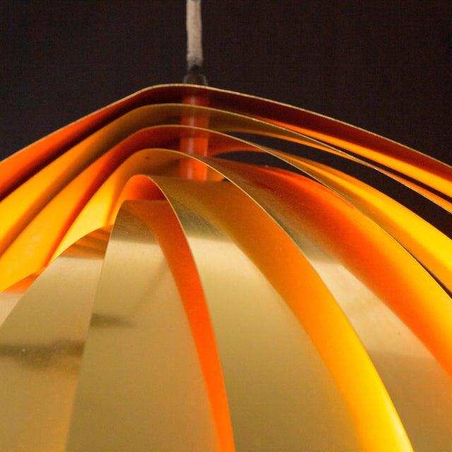 "Louis Weisdorf Vintage Louis Weisdorf Midcentury Iconic ""Conch"" Pendant Lamp For Sale - Image 4 of 6"