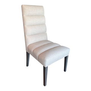 Fremarc Designs Horizontal Channeled Side Chair For Sale