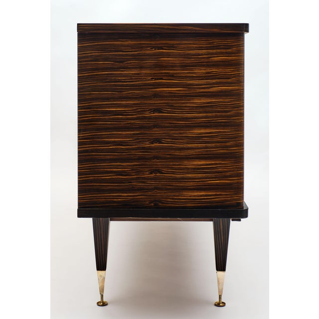 Macassar of Ebony French Vintage Buffet For Sale - Image 9 of 12