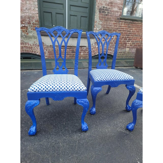 Chippendale 1980s Drexel Heritage Chippendale Chairs - Set of 4 For Sale - Image 3 of 12