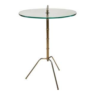 Brass Tripod Table, 1950's