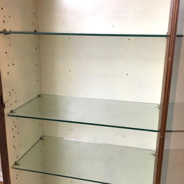 Glass Antique Oak Medical Cabinet For Sale - Image 7 of 8