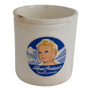 1920s Belgian Baby Powder Crock For Sale