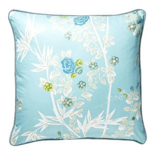 Jardin De Chine Pillow in Baby Blue For Sale
