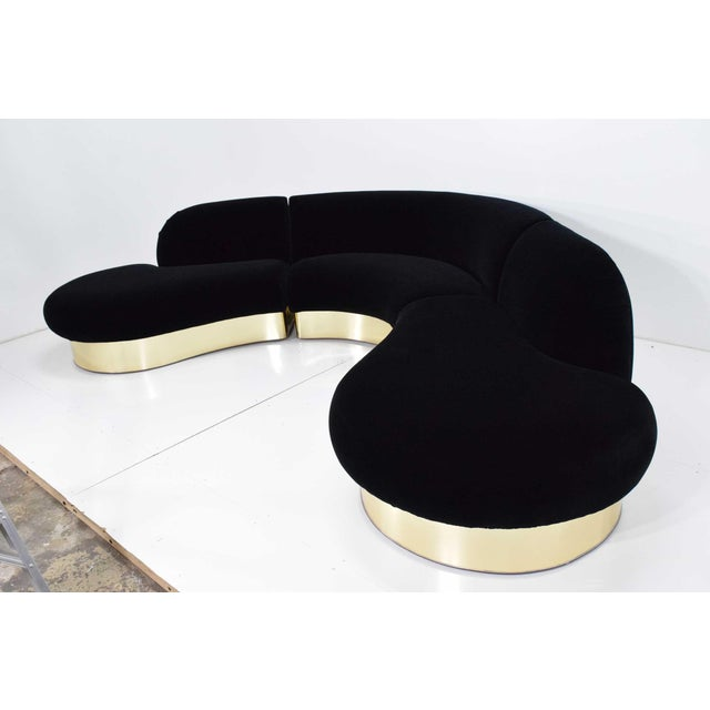Milo Baughman for Thayer Coggin Large Serpentine Sofa in Donghia Velvet For Sale - Image 9 of 13