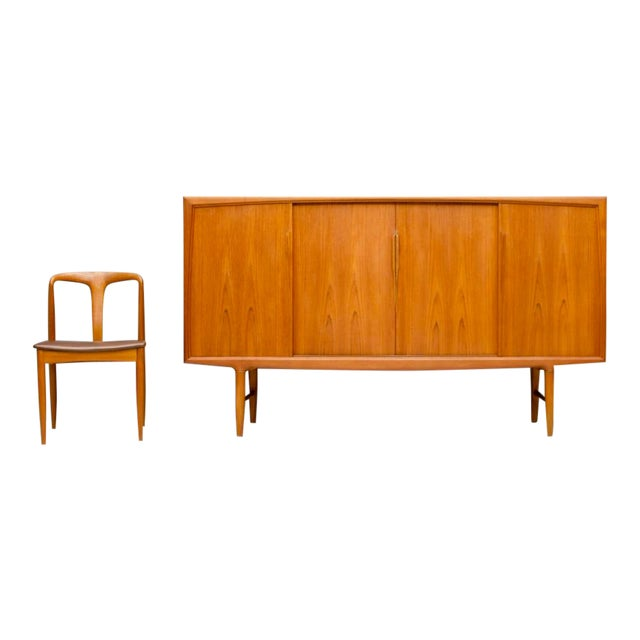Danish Teak Wood Sideboard by Axel Christensen for Aco Mobler 1960s For Sale