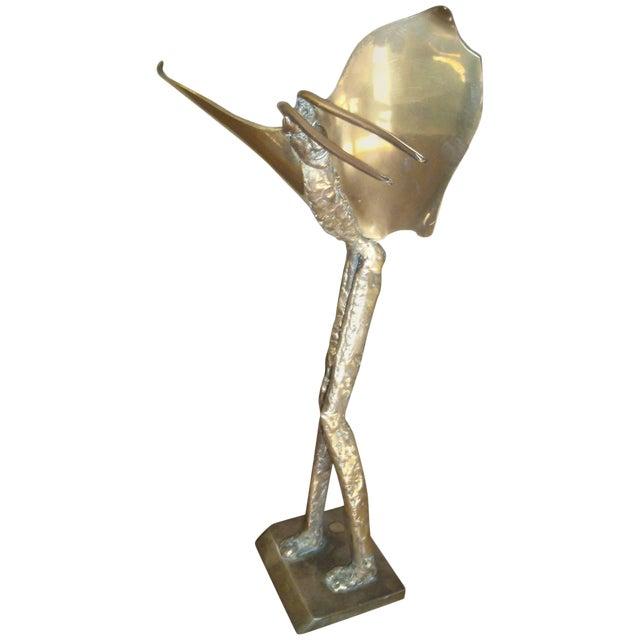 1980s Vintage McLean Bronze Fantasy Sculpture For Sale