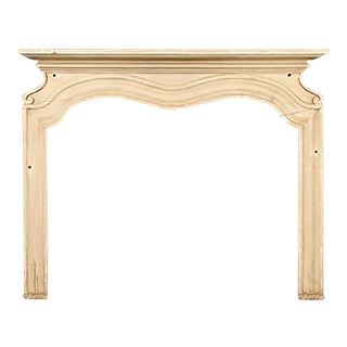 Early 20th Century Baroque Revival Style Wooden Mantel For Sale