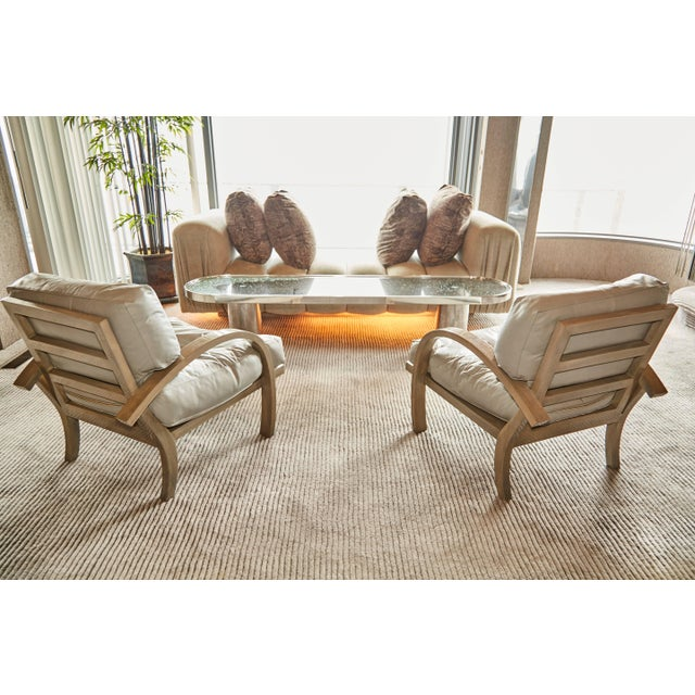 1984 Leather Lounge Chairs for Steve Chase Designed Home - a Pair For Sale - Image 9 of 10