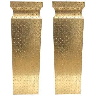 Hollywood Regency Brass Pedestals - a Pair For Sale