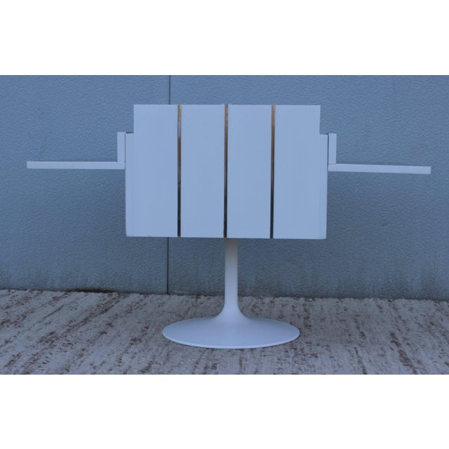 Metal Mid-Century Modern Swivel Bar/Cabinet by Lane For Sale - Image 7 of 11