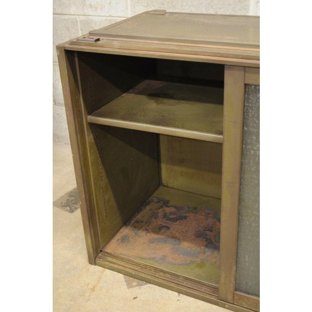 Remington Rand 20th Century Industrial Remington Rand Green Steel Metal Stacking Barrister Storage Cabinet For Sale - Image 4 of 13