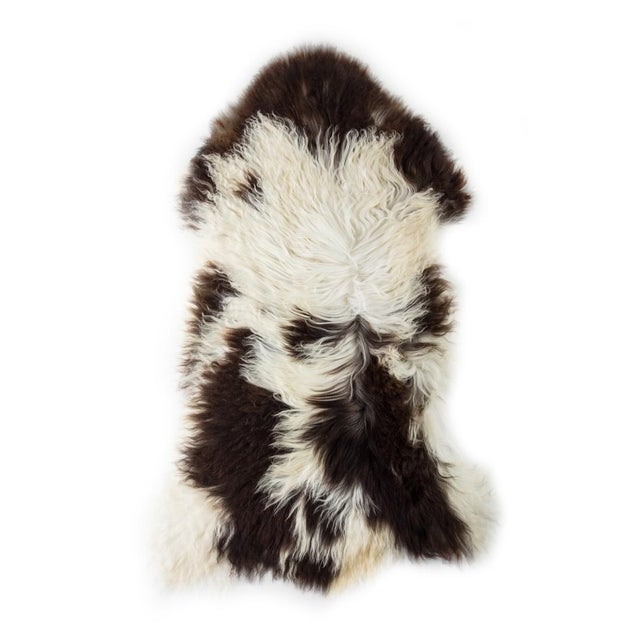 "Animal Skin 2010's Modern Natural Sheepskin Pelt Rug - 1'10""x3'7"" For Sale - Image 7 of 7"