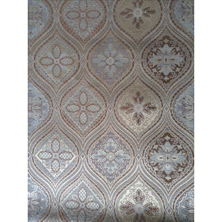 Hollywood Regency Trellis Design Fabric Panels - Pair