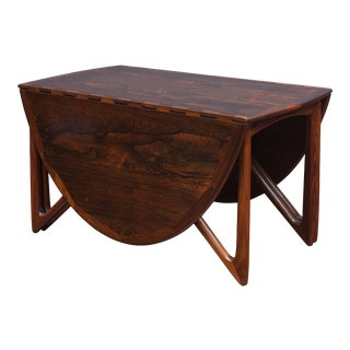 Kurt Ostervig Danish Rosewood Oval Dining Table For Sale