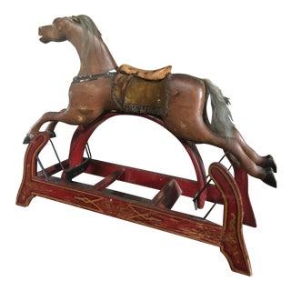 19th Century Folk Art Hobby Horse Toy For Sale