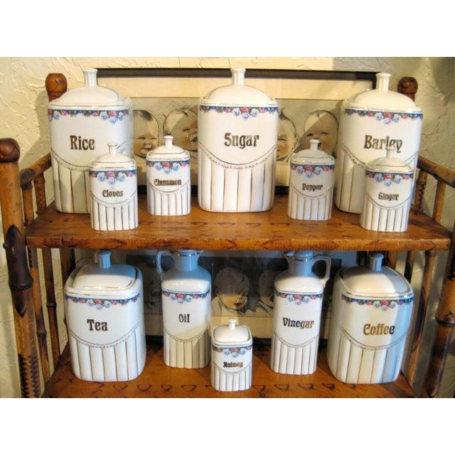 Vintage Porcelain Kitchen Canisters - Set of 12 - Image 3 of 8