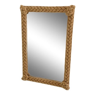 1960's French Rope Twist Mirror-er For Sale
