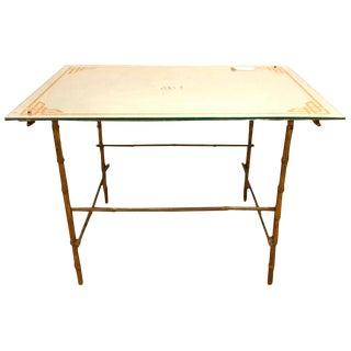 Hollywood Regency Bronze Based Eglomise Top Coffee Table